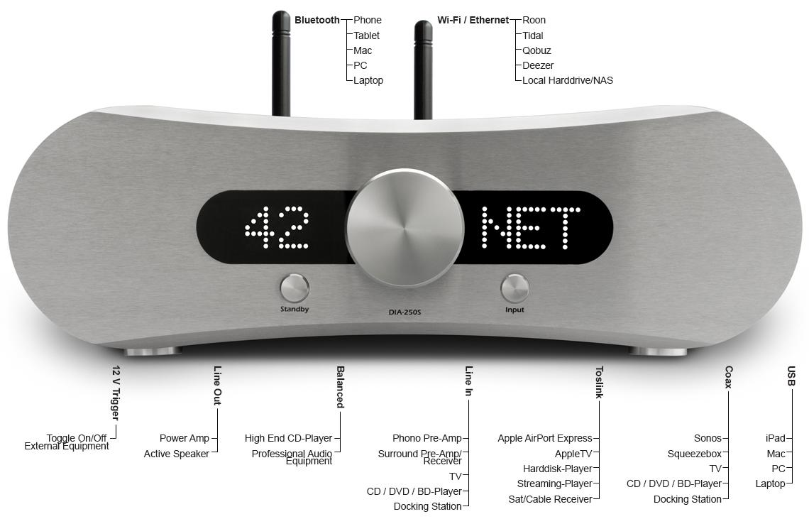 DIA-250S NPM Int  Amplifier, DAC & Network Player